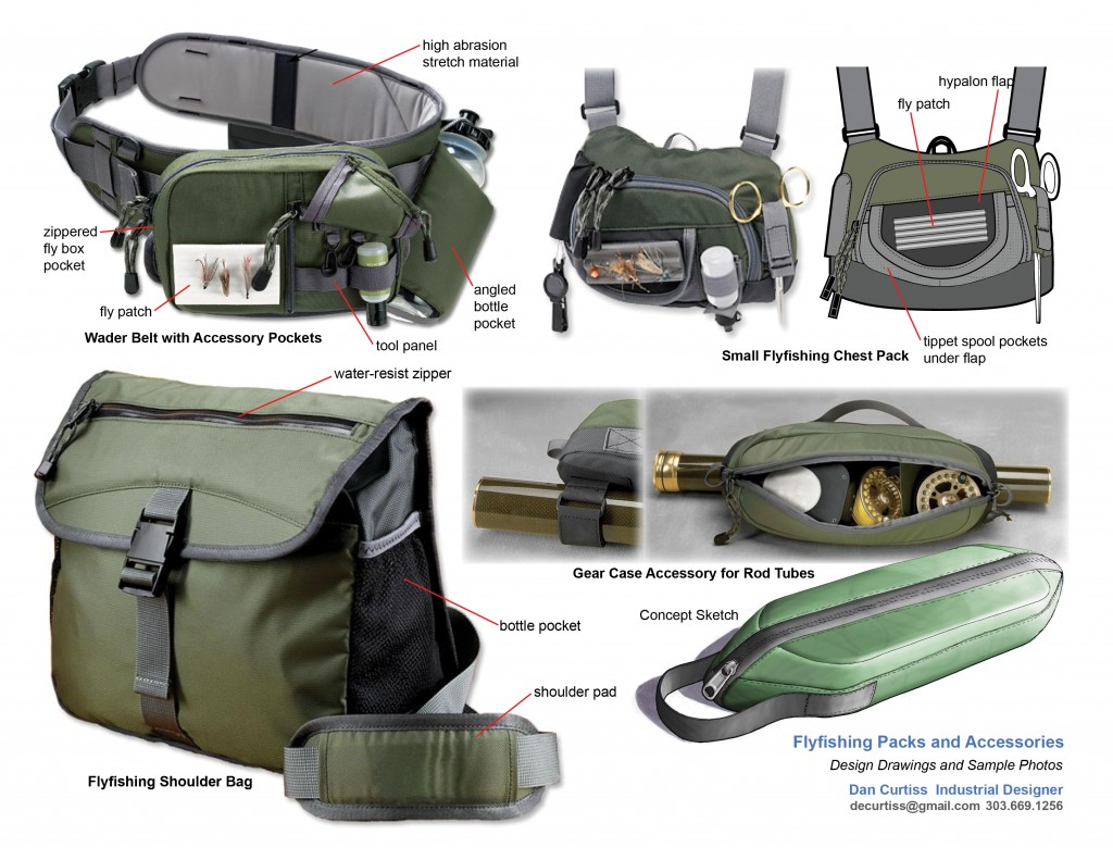Flyfishing Packs And Bags Industrial Design For Bags