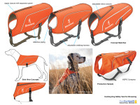 Hunting dog safety vest