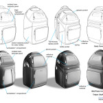 Simplified laptop backpack design concepts